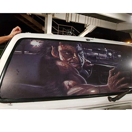 xj 3D Transparent Auto Aufkleber Halloween Automobil Rückseite Heckscheibe Aufkleber Vinyl Film Horror Car Wraps