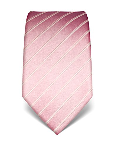 Vincenzo Boretti Corbata en seda pura, tono sobre tono, de rayas rosa
