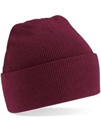 Beechfield Caps and Hats Bonnet à rebord en maille acrylique Unisexe Adulte