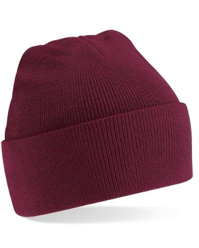 Modische Winter Mütze - Farbe: Burgundy
