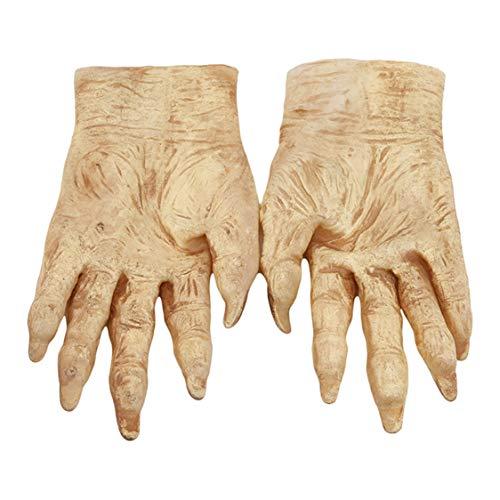 Idiytip Survivor Skeleton Reaper Handschuhe Rotting Zombie Bone Hands Halloween Handschuhe(# 01)
