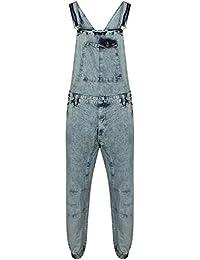 7f117aa2 Gracious Girl New Mens Acid Wash Blue Denim Designer Dungaree Dungarees  Jeans Mid Bib Overalls