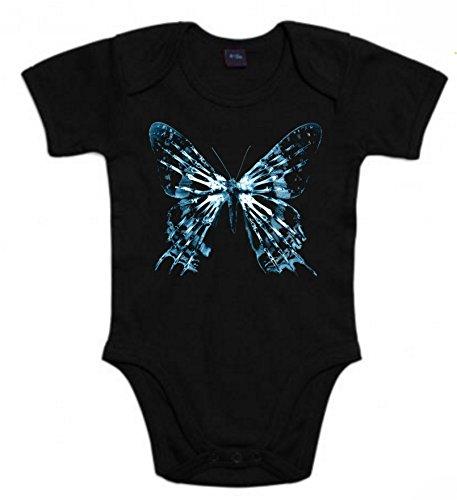Body de Fringe Terror Divertida Friki Animal Mariposa Azul Niños 18Meses Negro