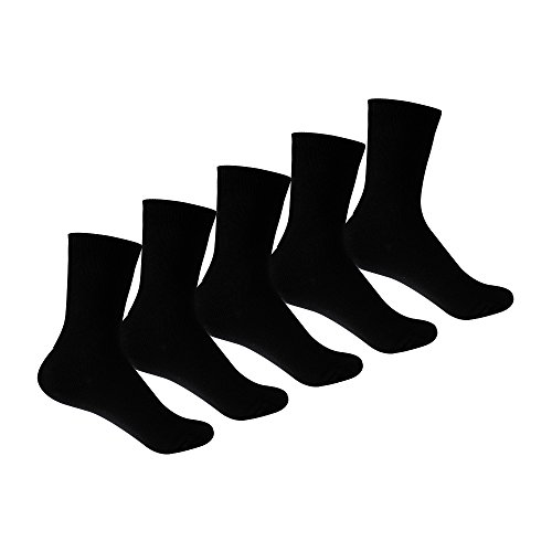 Supersox Kid's Combed Cotton School Socks Pack of 5 (Black)  available at amazon for Rs.259
