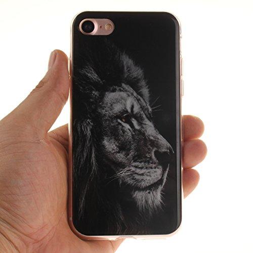XiaoXiMi iPhone 7 Hülle Gel Gummi Silikon Schutzhülle für iPhone 7 Soft TPU Silicone Case Cover Weiche Flexible Schale Schlanke Glatte Tasche Ultra Dünne Leichte Etui Kratzfeste Stoßfeste Handyhülle m König der Löwen