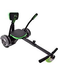 """Hoverseat Hoverboard Scooter Seat Asiento Accesorio Hoverkart Balance Tablas negro ajustable para 6,5"""" 8"""" 10"""" apropiado"""