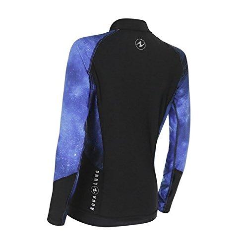 Aqua Lung Rash Guard Galactic Blau Damen Langarm Limited Edition,-Größe-L