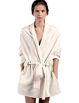 Noemi Lingerie Donna Elegante Giacca da Notte Color Panna 50% Cotone e 50% Micropoliestere