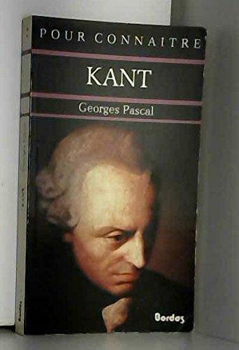 Pour connaître Kant
