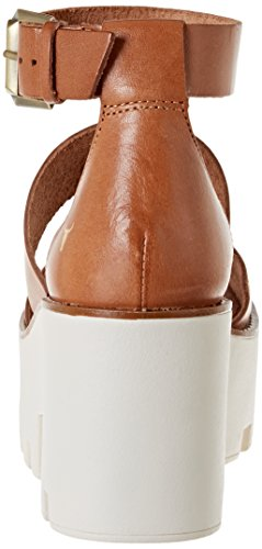 Windsor Smith WSSPUFFY, Sandali con Piattaforma e Cinturino alla Caviglia Donna Marrone (Tan)