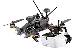 Walkera 15004670 Runner 250 Pro Racing Quadcopter RTF – Full HD Camera Goggle V4 Video Glasses FPV Drone, GPS, OSD, Battery, Charger and Devo 7 Transmitter by XciteRC