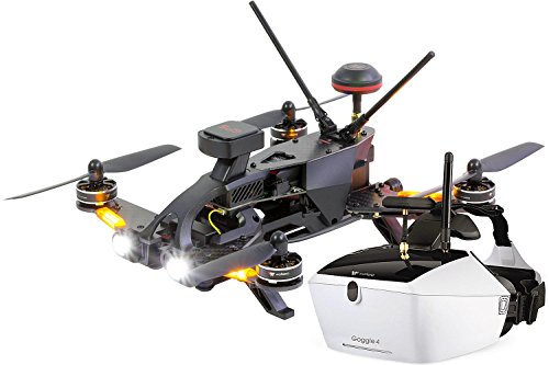 Preisvergleich Produktbild Walkera 15004650 - Runner 250 Pro Racing-Quadrocopter RTF - FPV-Drohne mit HD Kamera, Goggle V4 Videobrille, GPS, OSD, Akku, Ladegerät und Devo 7 Fernsteuerung