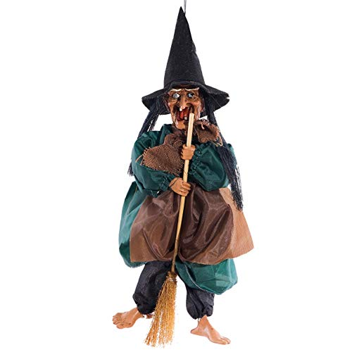 Halloween Hanging Decorations Scary Voice Control Witch Ghost for Party Nightclub Outdoor Indoor Wall Hanging Deco