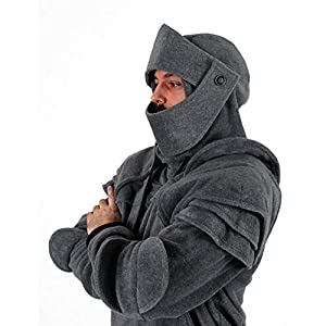 FeiBeauty Männer Vintage Maske Elbow Button Pullover Langarm Kapuzenpulli Männlicher Ritter Hooide