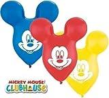 Mickey Mouse Kopf/Ohren Geformt 38.1cm Qualatex Latexballons x 5