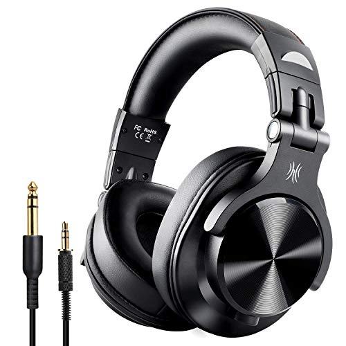 OneAudio A7 Fushion Cuffie Bluetooth Over Ear Chiuse Cuffie Wireless Studio con adattatore Cuffie pelle Protein Port gratuite Cuffie DJ professionali