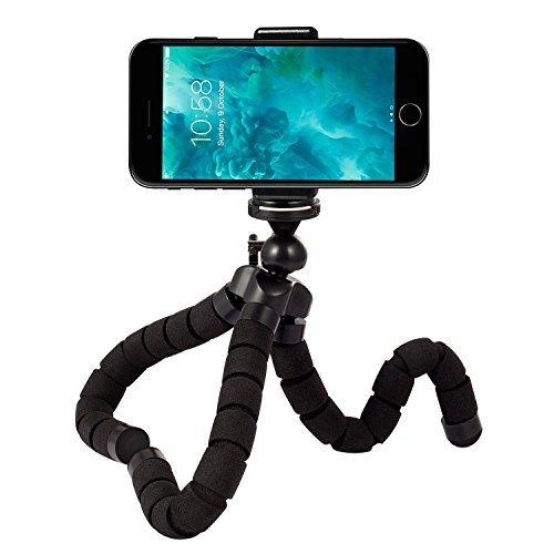 Rhodesy Oktopus Handy Stativ Tripod Dreibein Stativ Kamera-Stativ Ständer Halter für Kamera und jedes Smartphone inklusive Handyhalterung (Stativ)
