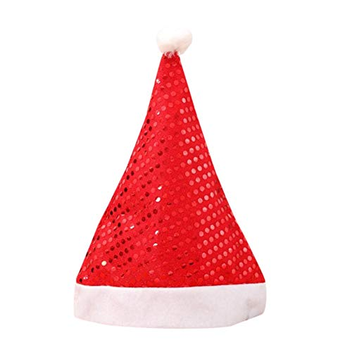 Autotipps Pailletten Weihnachtsmütze Santa Christmas Adult Hut Partei liefert Dekoration Hausgarten Weihnachten ()