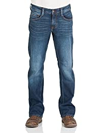 Mustang Herren Jeans Oregon - Bootcut - Blau - Light Blue - Mid Blue - Dark Blue- Black