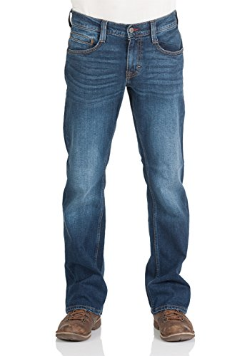 MUSTANG Herren Jeans Oregon - Bootcut - Blau - Light Blue - Mid Blue - Dark Blue - Black, Größe:W 31 L 30, Farbe:Dark Blue Denim (982) Lange Bootcut-jeans