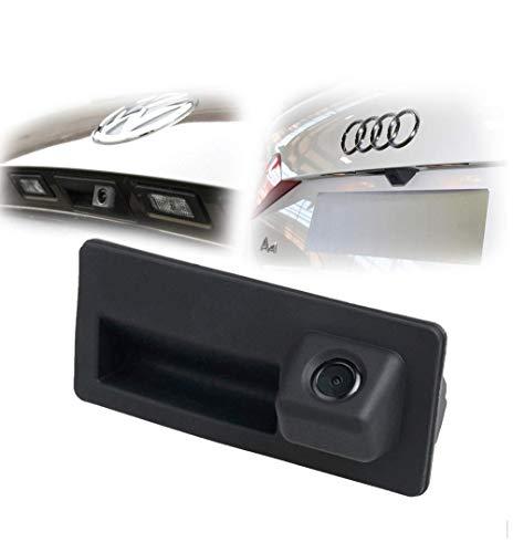 LIEBMAYA 170 gradi Bagagliaio Maniglia fotografica di sostegno di retrovisione HD macchina fotografica di parcheggio della macchina fotografica per Audi A4 A5 S5 Q5 per VW Passat Tiguan Golf Passat