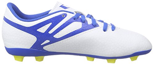 adidas Messi15.4 Fxg, Chaussures de football garçon Blanc - Weiß (Ftwr White/Prime Blue S12/Core Black)