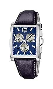 Festina - F16756-2 - Montre Homme - Quartz Analogique - Cadran Multicolore - Bracelet Cuir Bleu