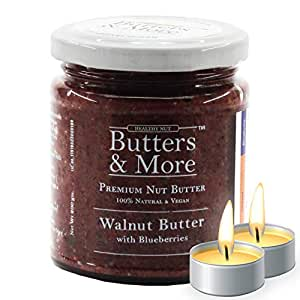 Butters & More Vegan Walnut Butter with Natural Blueberries (200G) No Artificial Flavours Or Colour. with a Surprise Diwali Gift!
