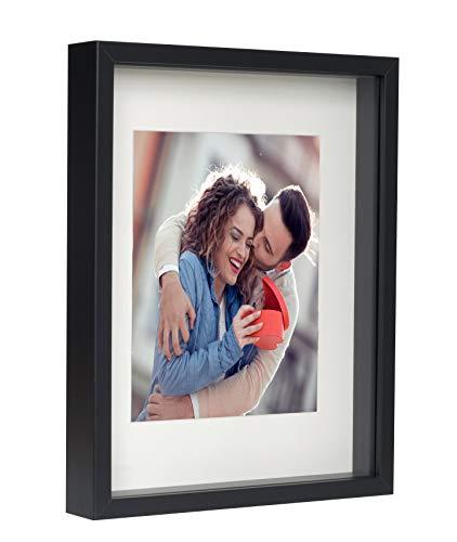 BD ART Cadre Photo Profond Noir 28 x 35 cm Box 3D avec Passe-Partout 20 x 25 cm