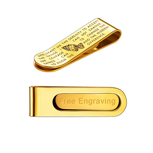 Personalised Silver Plated Laser Engraved Money Clip, Männerschmuck mit Gravur Geschenk Papa