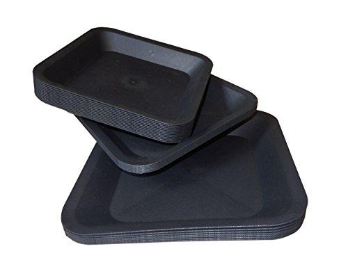 Soucoupe carrée en plastique – Base 25 x 25 centimètres