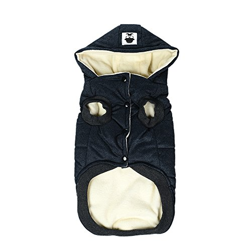 HOCOVER Hund Winterkostüm, Warm Durable Hohe Qualität Komfortable Weiche Doggy Puppy Kleidung Hund Kleidung Outfit - Blau/XL