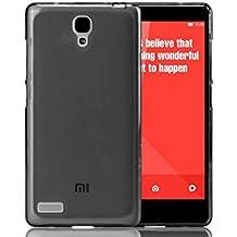 Prevoa ® 丨 FUNDA de GEL TPU SILICONA para XIAOMI HONGMI REDMI NOTE 5.5 Pulgada Android Smartphone + Protector Pantalla - Negro