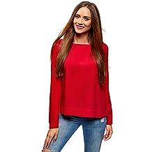 Mujer es Internacional Envío Amazon Elegible Camisa Roja 76tTqq4x