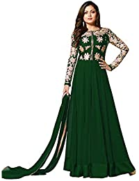 Viha Georgette Embroidered Semi-stitched Salwar Suit Dupatta Material