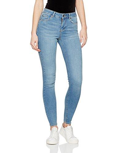 Vero Moda Vmlux Nw Super Slim Jeans Ba957 Ns, Blouson Femme Bleu (medium Blue Denim)
