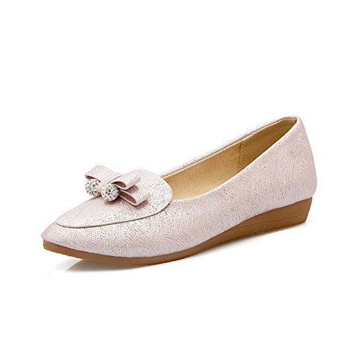 balamasa-ladies-bows-wedges-charms-pull-on-pink-microfiber-pumps-shoes-2-uk