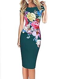 e67b7c4cdebd shengshiyujia per Donna Taglie Forti Feste Moda Città Attillato Vestito -  con Stampe