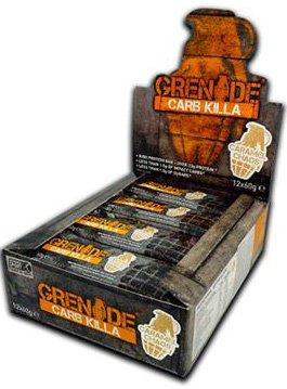 Grenade Carb Killa Bar High Protein Bar Eiweiß Riegel Proteinriegel Eiweißriegel Whey Bodybuilding 12x60g (White Chocolate - Weiße (Karamel Schokolade Brownie)