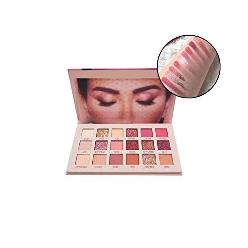 Hilai 1PC lidschatten palette 18 Farben Lidschatten Aromas New Nude langlebige Multi Reflektierende Shimmers Und Matte Glitter-Augen-Schatten Hochpigmentierte Make-up-Palette für Frauen Mädchen -