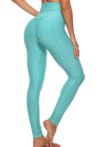 FITTOO Mallas Leggings Mujer Pantalones Deportivos Yoga Alta Cintura Elásticos y Transpirables Azul S