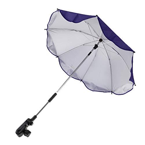 Toygogo Winddicht Sonnenschirm Strandschirm Wasserdicht Regenschirm mit Regenschirmklemme - Lila, wie beschrieben