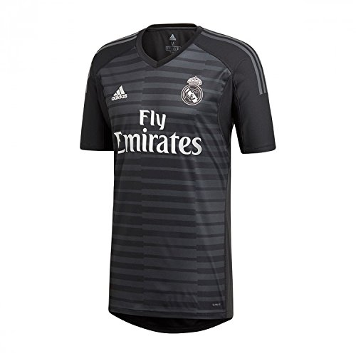 b45d9b8abdf45 adidas Camiseta Real Madrid Portero Primera Equipación 2018-2019  Black-Carbon Talla XL