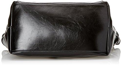 Gaudì Shopping-Linea Adele-cm.31x30x17, Borsa a Mano Donna, 31 x 30 x 17 cm (W x H x L) Nero (Black)