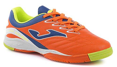Joma Toledo HR 604Royal–Fluor Indoor–Chaussures de Foot Salle Enfant NARANJA FLUOR IN