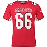 Majestic Atlanta Falcons NFL Players Poly Mesh Tee/T Shirt Red - S