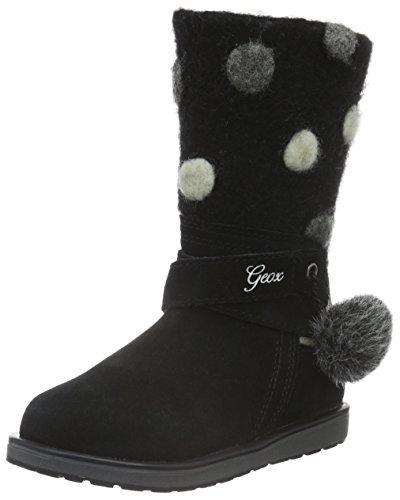 Geox Mädchen JR Noha A Kurzschaft Stiefel, Schwarz (BLACKC9999), 35 (Für Kinder Stiefel Schwarze)
