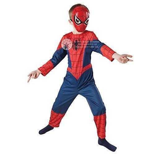 Kostüm Kleinkind Spiderman Jungen (The ultimate Spiderman Kostüm - Marvel Superhero - Rot & Blau, 7-8 Jahre / EU 128)