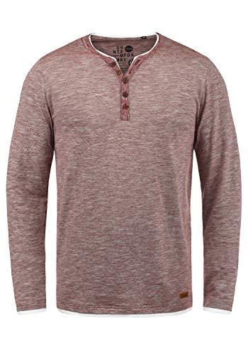 !Solid Belagos Herren Grandad Longsleeve Langarmshirt Aus 100% Baumwolle, Größe:XXL, Farbe:Wine Red (0985)