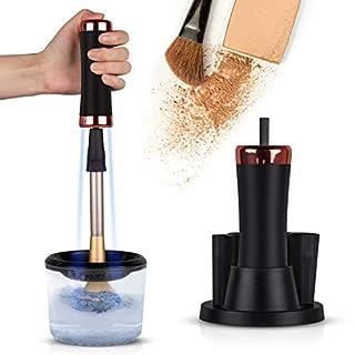 Make-up Pinsel Reiniger Set, Upgrow Elektrischer Pinselreiniger, Pinsel Trockner,Elektrisch Pinsel Reinigungsgerät mit 4 Silikon-Halter, mit UV-Desinfektion